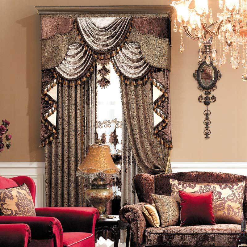 欧式窗帘帘头的做法_欧式风格窗帘-家样